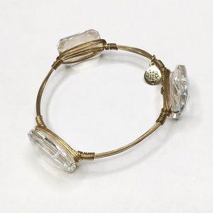 Bourbon & Bowties Clear Rectangle Bangle Bracelet